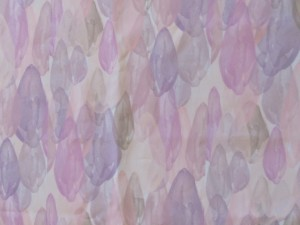 An up-close-and-personal view of Tara and Lisa's custom fabric, Dilettante's signature print for its spring 2015 line.